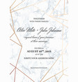wedding invitation card template geometric design vector image vector image