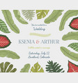 wedding invitation card vintage engraved template vector image vector image