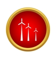 Windmills icon simple style vector image vector image