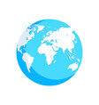 world map blue white globe vector image vector image