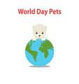 World pet day conceptcute dog