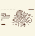 yoga center landing page floral ornament vector image vector image