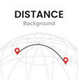 navigator distance with pin pointers vector image