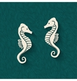seahorse marine background vector image