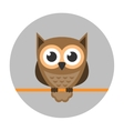 Owl icon flat vector image