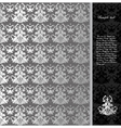 Floral seamless silver background vector image