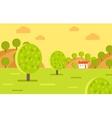 Village Garden or Fruit Farm Landscape vector image