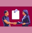 a man and woman do handshake vector image