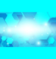 abstract blue technology digital hi tech hexagons vector image vector image