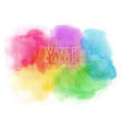 abstract colorful watercolor brush for background