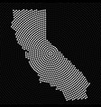 abstract map california radial dots halftone vector image