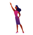 african american business woman pointing with vector image vector image