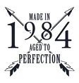 Aged to perfection T-shirt graphics vector image vector image