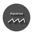aquarius zodiac sign flat astrology with long vector image vector image