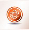 atom icons in flat design vector image vector image