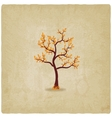 autumn tree old background vector image vector image