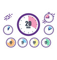 big set timers concept quickly approaching vector image