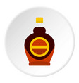 bottle of maple syrup icon circle vector image vector image