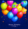 bunch of colorful birthday balloons vector image vector image