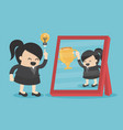 businesswomen have good ideas see reflection from vector image