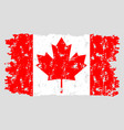 canada stamp flag isolated texture grunge vector image