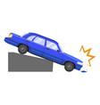 car accident damage and automobile dangerous crash vector image