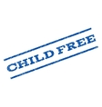 Child Free Watermark Stamp vector image vector image