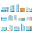 city buildings isolated cartoon set vector image