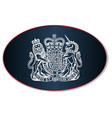 coat of arms of the united kingdom vector image vector image