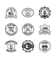 Computer repair labels icons set vector image vector image