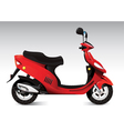 cool red scooter vector image