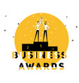 creative word concept business award and people vector image