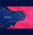 cute abstract dynamic overlapped liquid shape vector image vector image