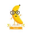 cute banana character vector image vector image