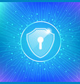 cyber security protect vector image