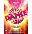 Dance Party Poster Background Template vector image vector image