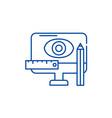 design methodology line icon concept design vector image vector image