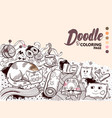 doodle home cosiness vector image