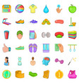 energy icons set cartoon style vector image vector image
