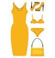 flat girl look set vector image vector image