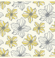 floral seamless pattern with blossom flowers vector image vector image