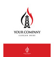 gas and oil logo logo template icon vector image