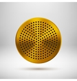 Gold Abstract Circle Button Template vector image