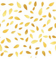 golden leaves seamless pattern background vector image vector image
