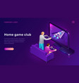 home game club isometric concept vector image