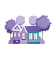 house facade architecture property isolated icon vector image
