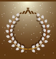 imagination leaves laurel wreath with star vector image vector image