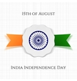 India Independence Day patriotic Label vector image vector image
