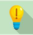 innovation idea bulb icon flat style vector image