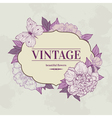 intage background with peony and butterfly vector image vector image